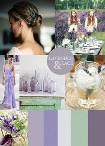 Cie S Wedding Colors Lavender Lace Lilac And Sea Foam