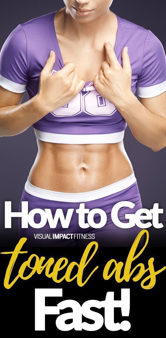 How to tone abs fast male
