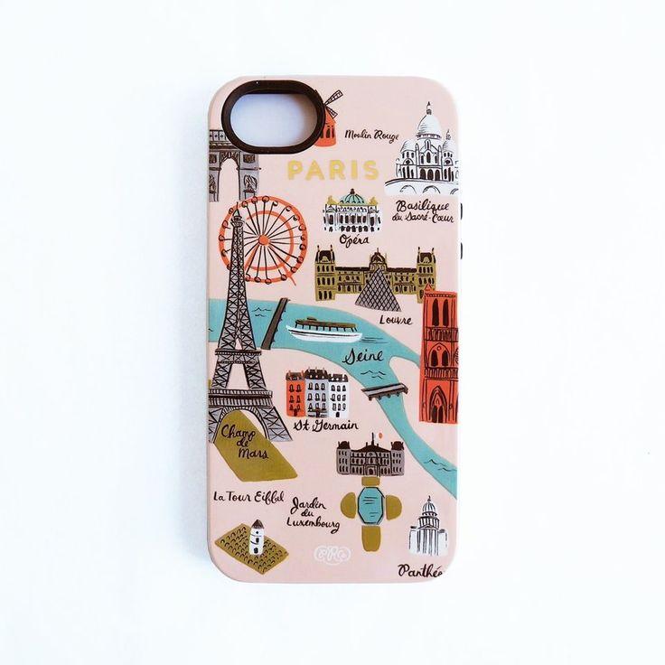 """RIFLE PAPER Co. """"Paris Map iPhone 5/5s Hard Case"""""""