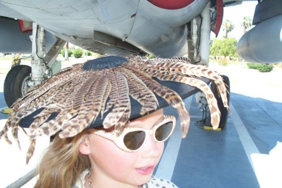 EXTREMELY RARE 1940's Vintage Hollywood Hat by UniqueLovelyPieces, $98.50