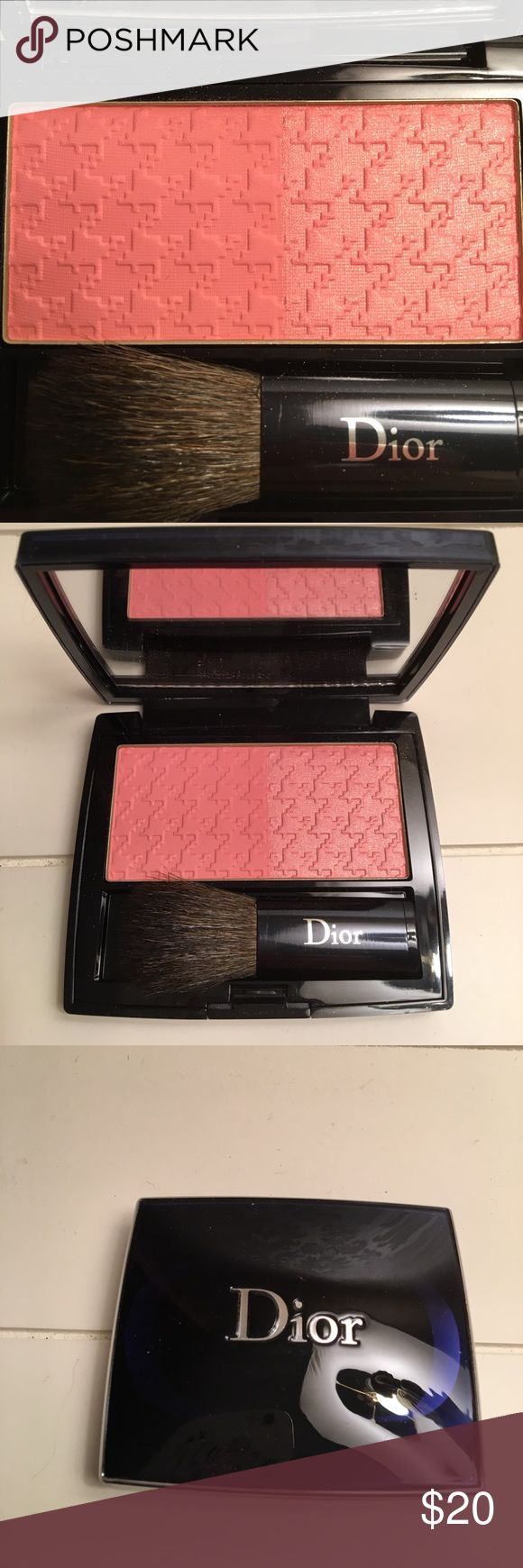NWOT Dior Blush. Never used. Brand new condition. Brush has never been used also. Half of blush has shimmer. I do not have the box or dust bag. Christian Dior Makeup Blush
