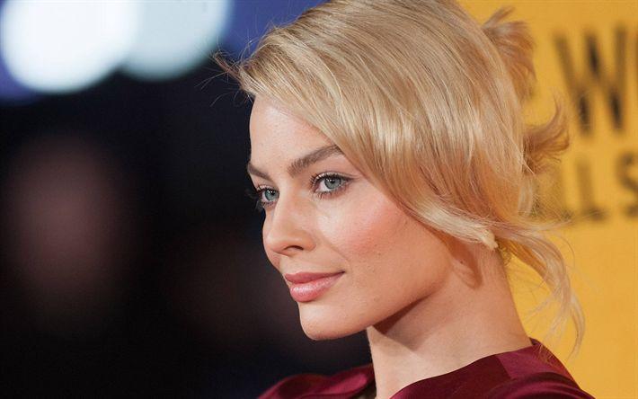 Herunterladen hintergrundbild margot robbie, portrait, hollywood, 2017, australische schauspielerin, blondine, schönheit