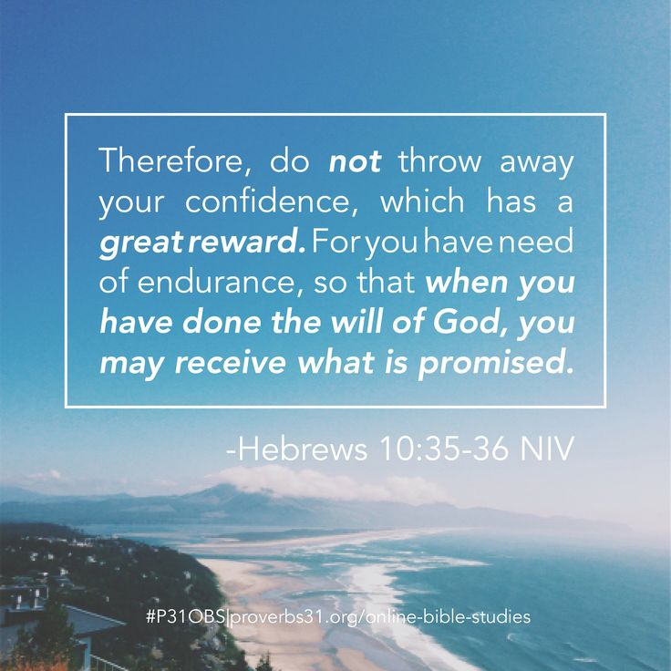 Hebrews 10:35-36 || Proverbs 31 Online Bible Studies #P31OBS