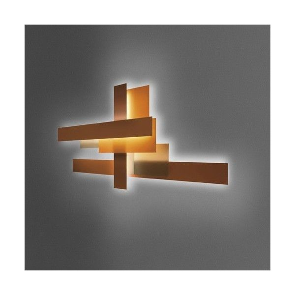 Foscarini Fields Wall Light Set ($3,958) ❤ liked on Polyvore featuring home, home decor, wall art, white wall art, interior wall decor, orange wall art and orange home accessories