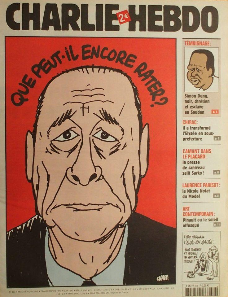 Charlie Hebdo - # 676 - 1er Juin 2005 - Couverture : Charb
