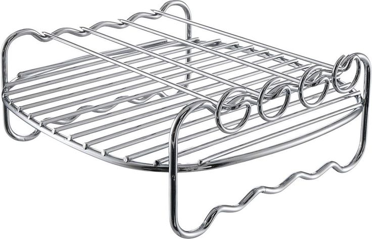Philips - Viva Collection Airfryer Double Layer Rack with Skewers - Silver