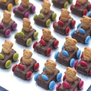 Tiny Teddy Racing Cars - Milky Way, Tiny Teddies and Smarties