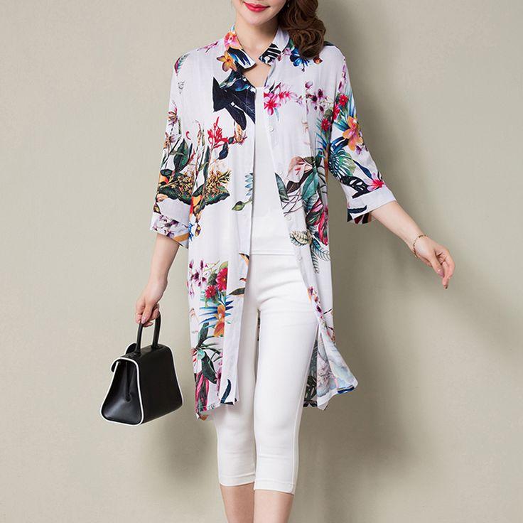 New women summer long blouses print vintage blouse shirt plus size women floral half sleeve blusas kimono Buy now for $ 31   #chandigarh #delhi #mumbai #gurgaon #instalike #followforfollow #flare #denim #celebrity #trendy #diva #women #online #shopping #fitgirls #fitnessmotivation #selftime #energy #lovebody #eshopoly