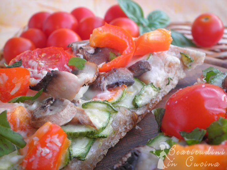 Pizza vegetariana#cucina #food #recipes #ricetta #italia #pizza #vegetarian