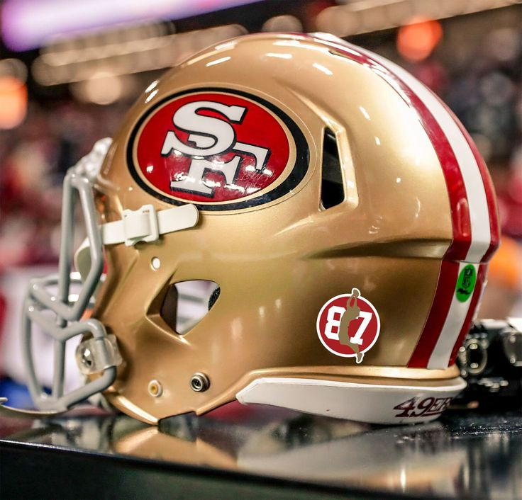 49ers to honor dwight clark with helmet decal statue