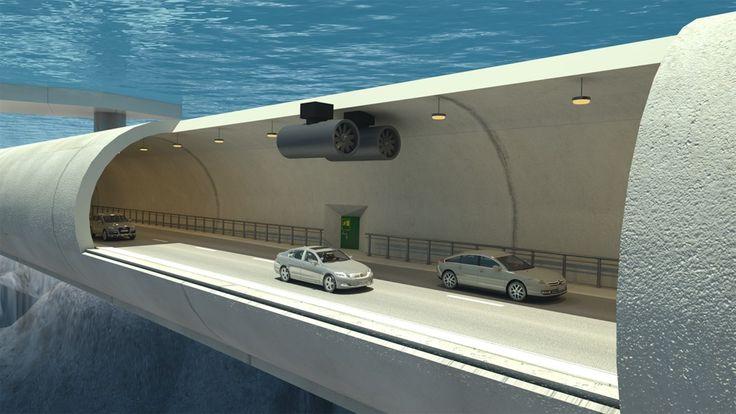 Noruega estuda a possibilidade de construir túneis flutuantes para cruzar os…