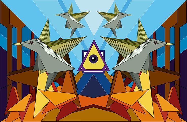 pájaros.. ilustración vectorial
