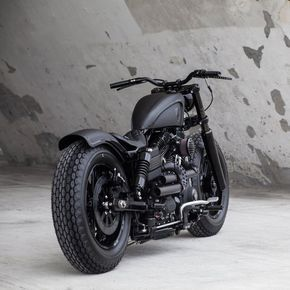 Blacker than black: a custom Harley Dyna Fat Bob from Rough Crafts.