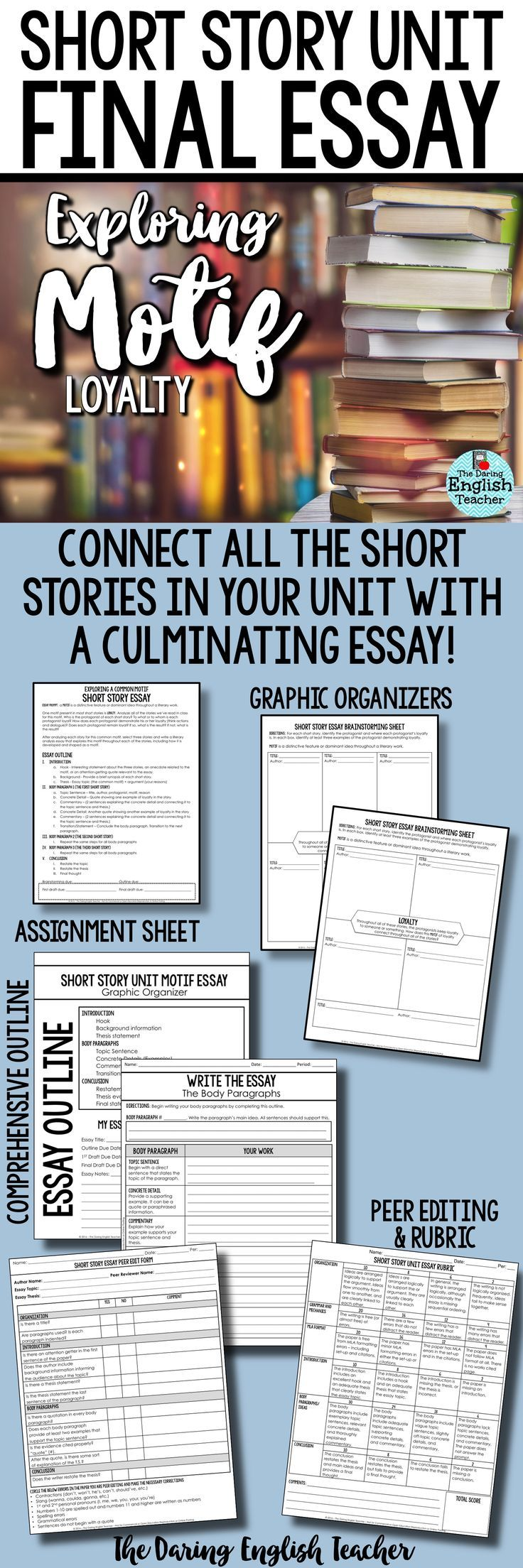 top 25 ideas about short stories for high school students on short story unit final essay analyzing motif loyalty