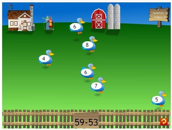 """""""La Granja Matemática"""", de Vedoque, es un juego atractivo para los niños en el que se practica el cálculo mental en suma, resta y multiplicación, en cada una de ellas con tres niveles de dificultad. Por ello, se puede jugar desde 1º hasta 5º de Primaria."""
