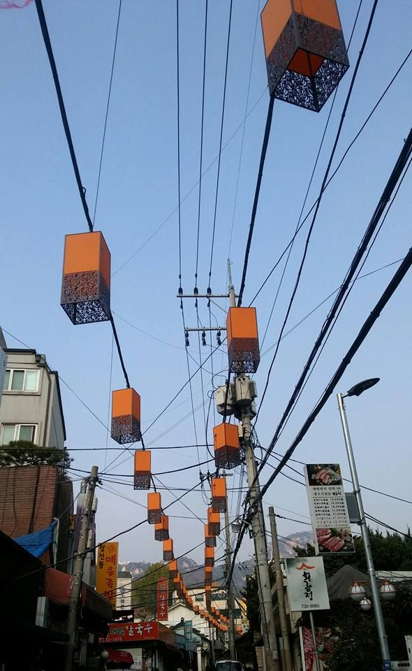 lamps that lead to Inwangsan Trail
