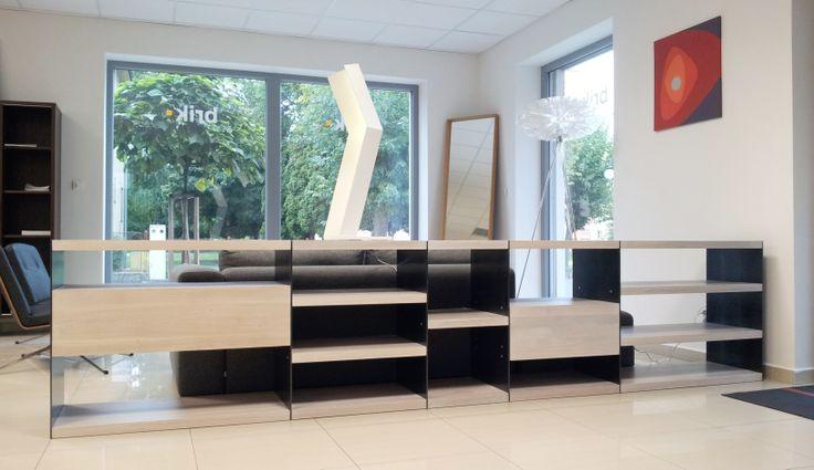 modular solid oak library LINK
