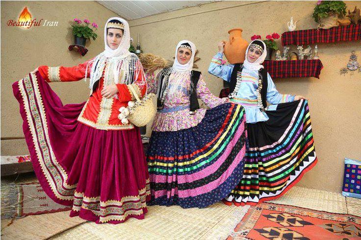 Iranian gilaki ladies in beautiful Gilaki traditional dress
