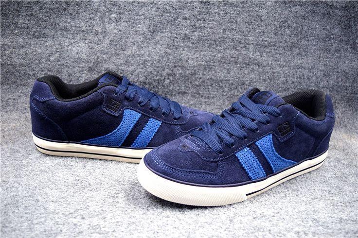 (60.00$)  Buy here  - SizeUS5- 12 Boys Dark Blue GLOBE ENCORE-2 Board Shoes Anti-Fur Street Shock-Absorbant  Footwear