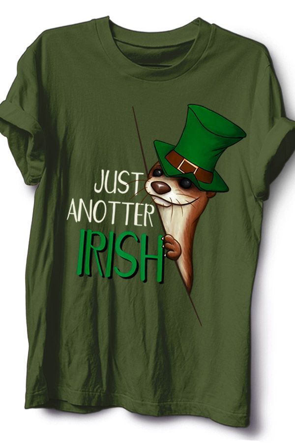 2bd0fe68b09 Green Tops · Leprechaun · Otters · A funny St Paddys Day party outfit for  every true irish otter lover. Sometimes you