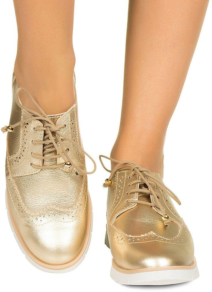 Tênis oxford dourado Taquilla - Taquilla - Loja online de sapatos femininos