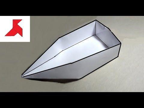 Оригами лодка плоскодонка из бумаги А4… - YouTube