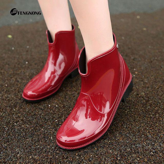 Новые низкой теплый дождь сапоги U трубки вода обувь мода водонепроницаемые 2017 низкий упругие блестящие женские сапоги дождь