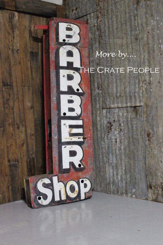 Neon Advertising Sign Barber Shop-In @ FoundInAttic via Etsy                                                                                                                                                                                 Mais