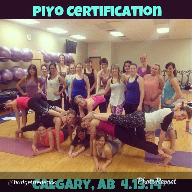 PiYo certification in Calgary. Get ready Canada to be PiYo-fied!!! #piyo #strength #piyoinstructor #piyocert #beachbodycert #beachbodyinstructor #beachbodymastertrainer #mtroyaluniversity #fitfriends #fitnessclass #groupfitness #teachgroupclasses #luvthesepeeps #domorepiyo #iheartpiyo #yyc