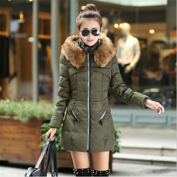 Black casual parka jacket