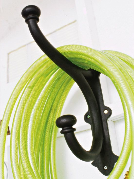 232 best images about workshop organization on pinterest for Diy garden hose storage