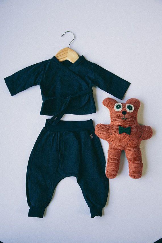 Linen Baby Pants van MaggieBogart op Etsy, $34.00