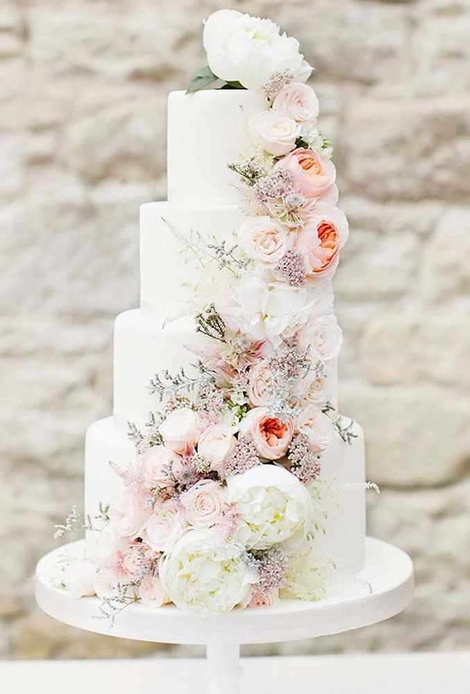 30 Beautiful Wedding Cakes The Best From Pinterest In 2020 Wedding Cakes With Flowers Wedding Cake Options Beautiful Wedding Cakes