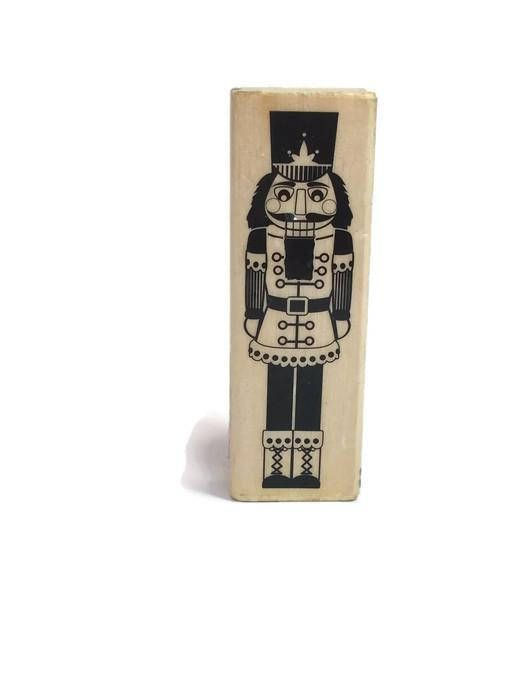 Nutcracker Rubber Stamp Christmas Nutcracker Craft Stamp