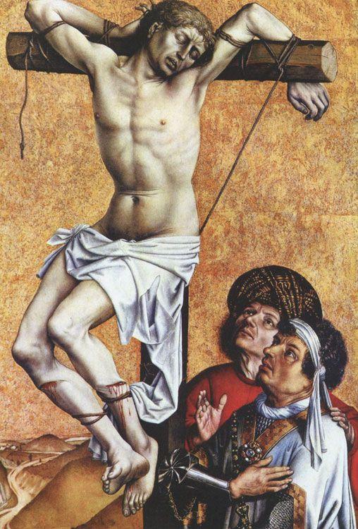 МАСТЕР ИЗ ФЛЕМАЛЯ (РОБЕР КАМПЕН) (около 1375-1444) Разбойник на кресте. Около 1430.