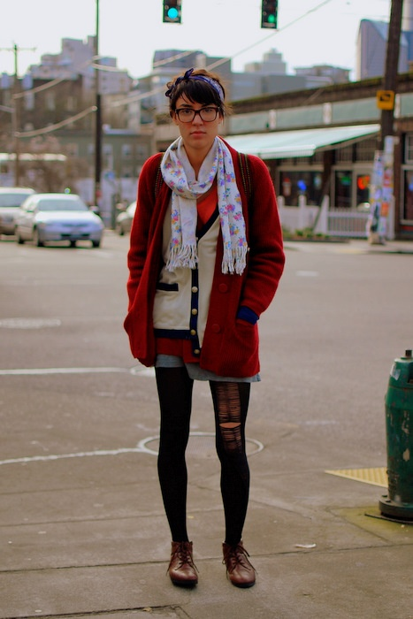 I really just want her cardigan...and maybe the scarf.
