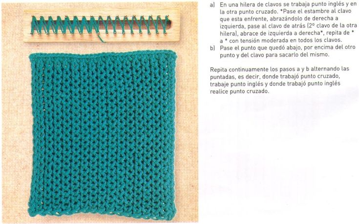 Crochet Stitches In Spanish : Loom knitting stitches, instructions in Spanish