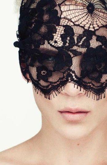 masquerade.: Fashion, Inspiration, Style, Masks, Black Laces, Lace Mask