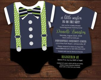 10 Suspenders Baby Shower Invitations Tie invitation Geeky