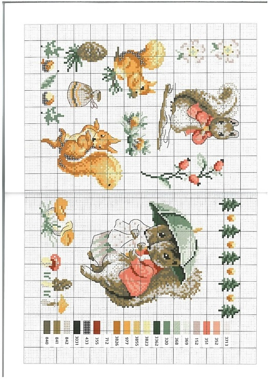 I LOVE Beatrix Potter - and these are darling cross stitch charts!
