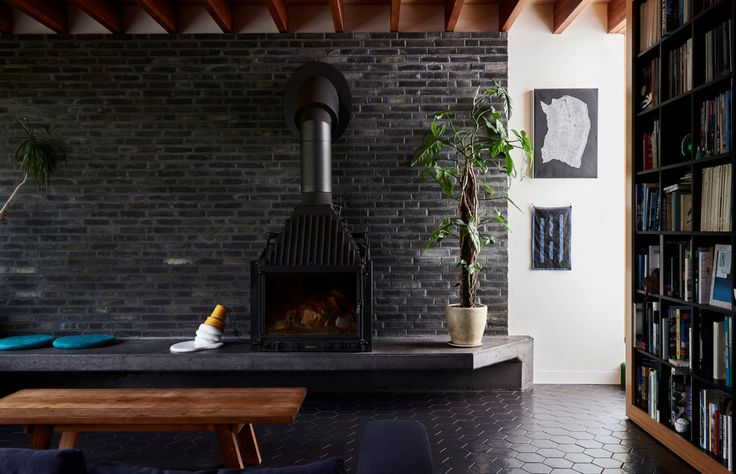 Black painted bricks