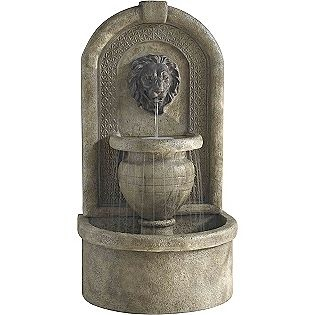 Lion Wall Fountain I Want This In My Backyard My Dog Would Love