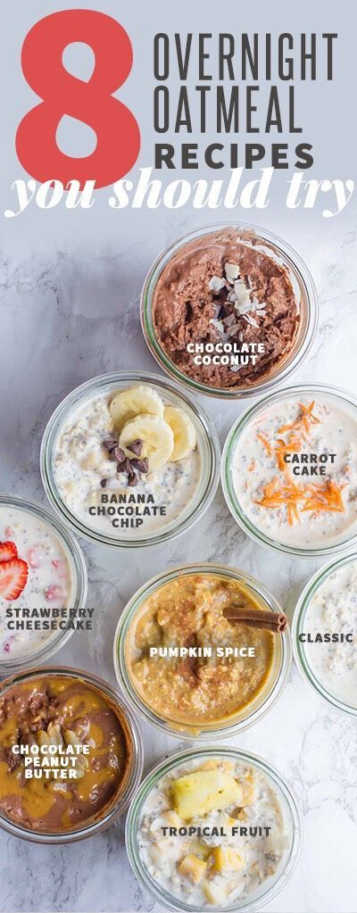 8 Over Night Oats Recipes You Should Try #Musely #Tip