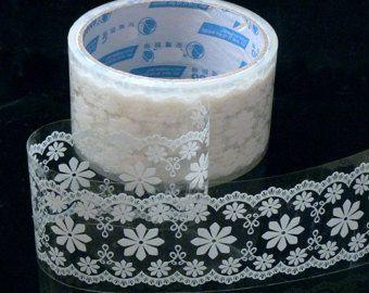 put lace on transparent tape