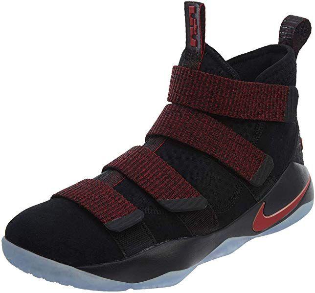 7d9e6fced7dde Amazon.com | NIKE Men's Lebron Soldier XI Shoe Black/Team Red Size ...