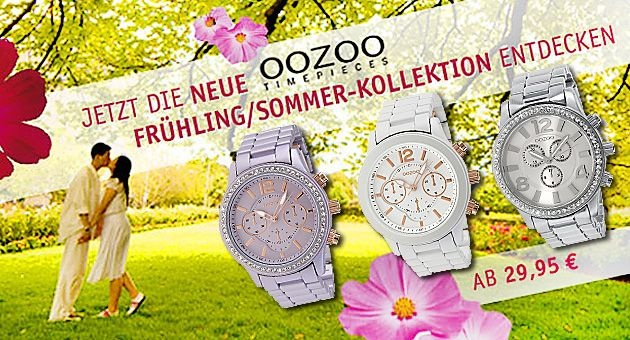 Oozoo Uhren Sommerkollektion
