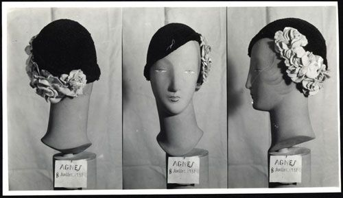 """Joli Coeur"""" Hat by Maison Agnès, July 1931, Photo © Archives de Paris, DU12U10 365"""