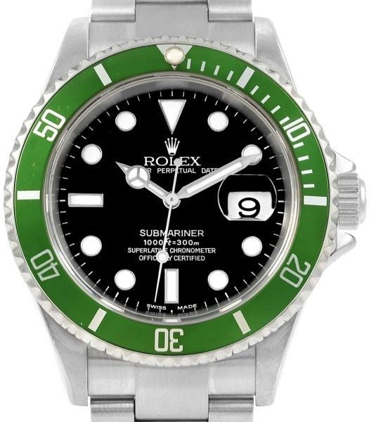 Rolex Submariner 16610LV Stainless Steel Green Bezel Automatic 40mm Mens Watch