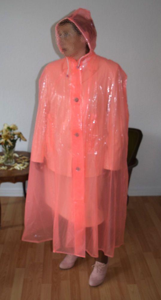 Regencape Umhang Poncho Gummicape Friesennerz Regenmantel Lackmantel PVC Rosa L in Kleidung & Accessoires, Damenmode, Jacken & Mäntel | eBay!
