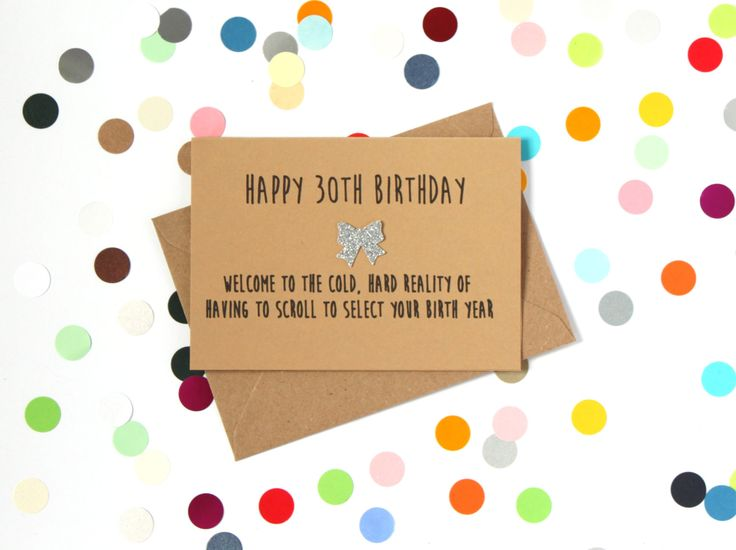 Card Making Ideas 30th Birthday Part - 24: Funny 30th Birthday Card: Happy 30th Birthday - Welcome To The Cold Hard  Reality Of